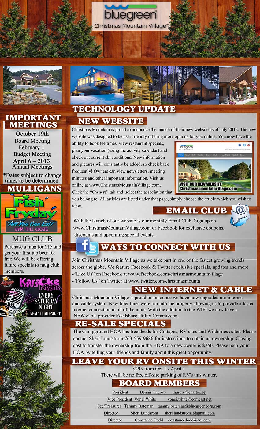 Campground Newsletter Back Resized
