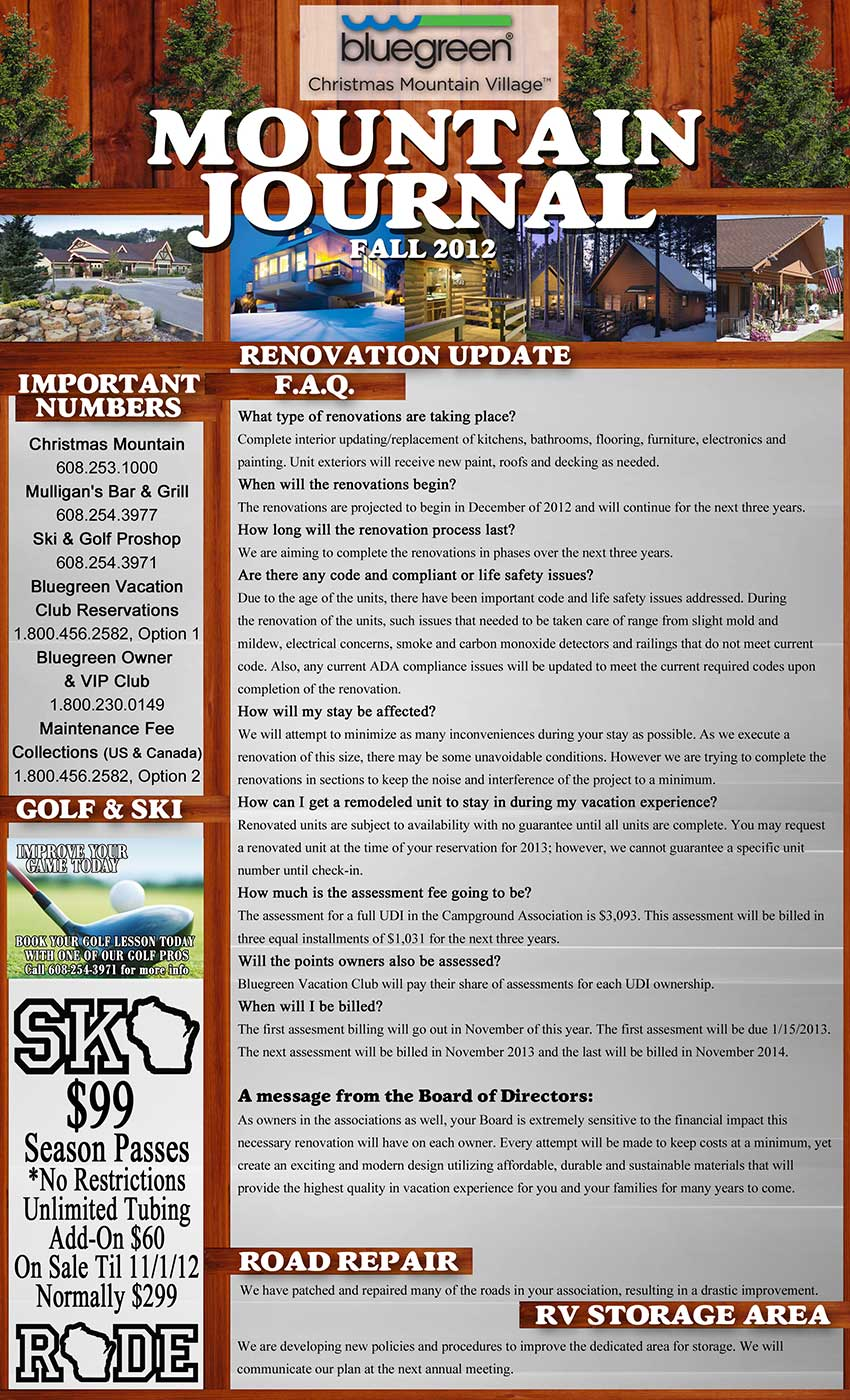 Campground Newsletter Front Resized