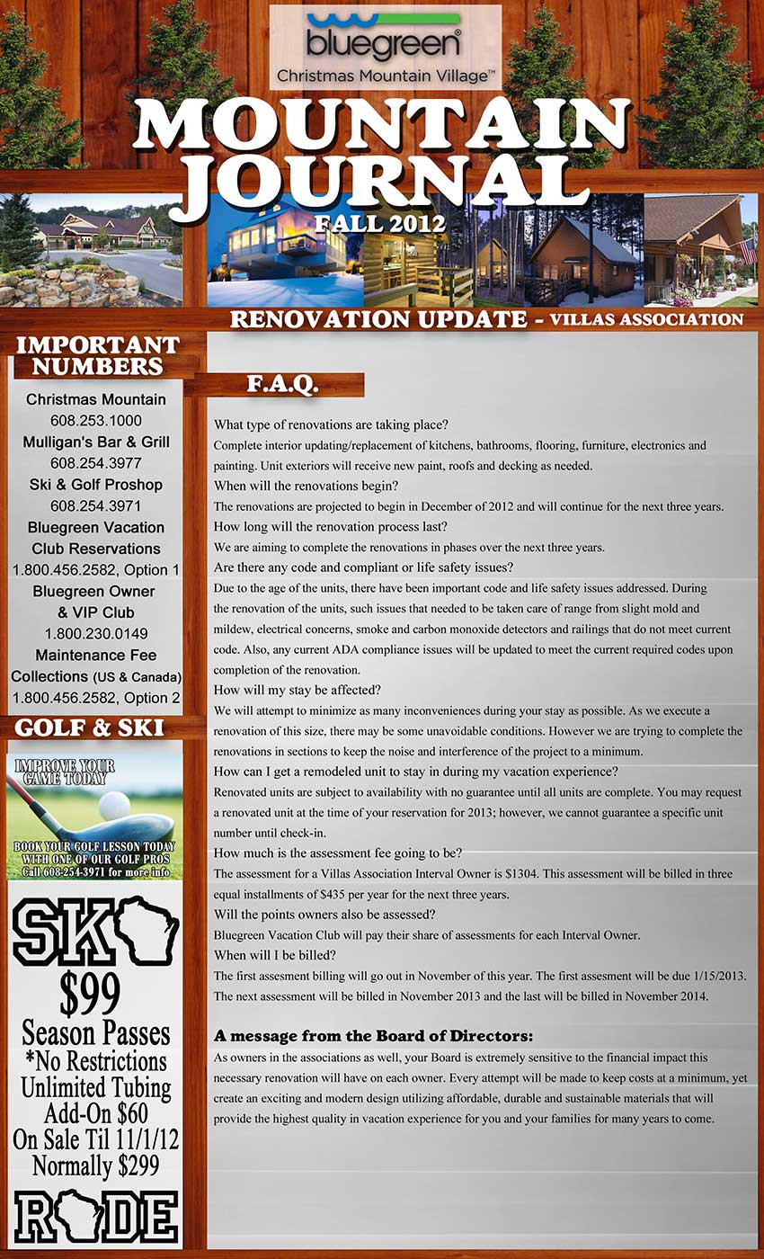 Villas Newsletter Front Page resized